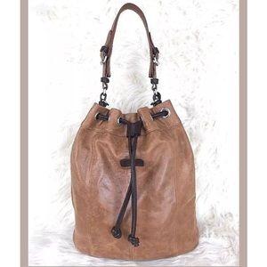 Ellington Softest Suede Structured Bucket Bag.